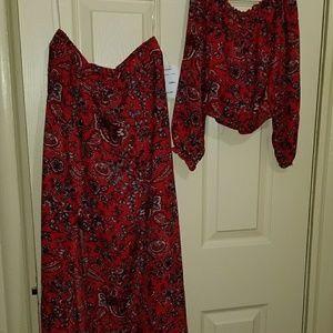 maxi dress set